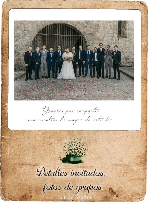 Fotos de grupo regalos para bodas