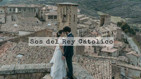 Postboda, novios Sos del Rey Católico